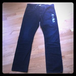 New! Men's dark wash straight fit Jeans